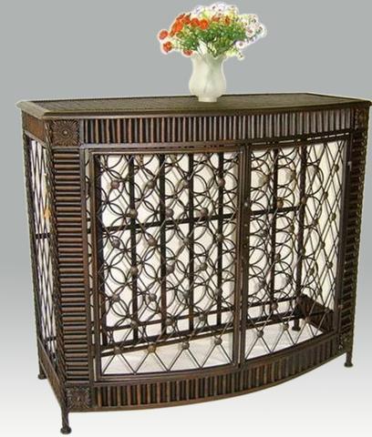Onwijs IJzeren wijnrek - IJzeren meubelen - IJzeren decoraties - Stip KN-93