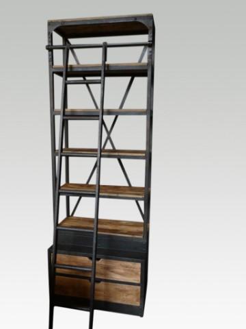 Industriële Houten Kast Met Ladder Industriële Meubels